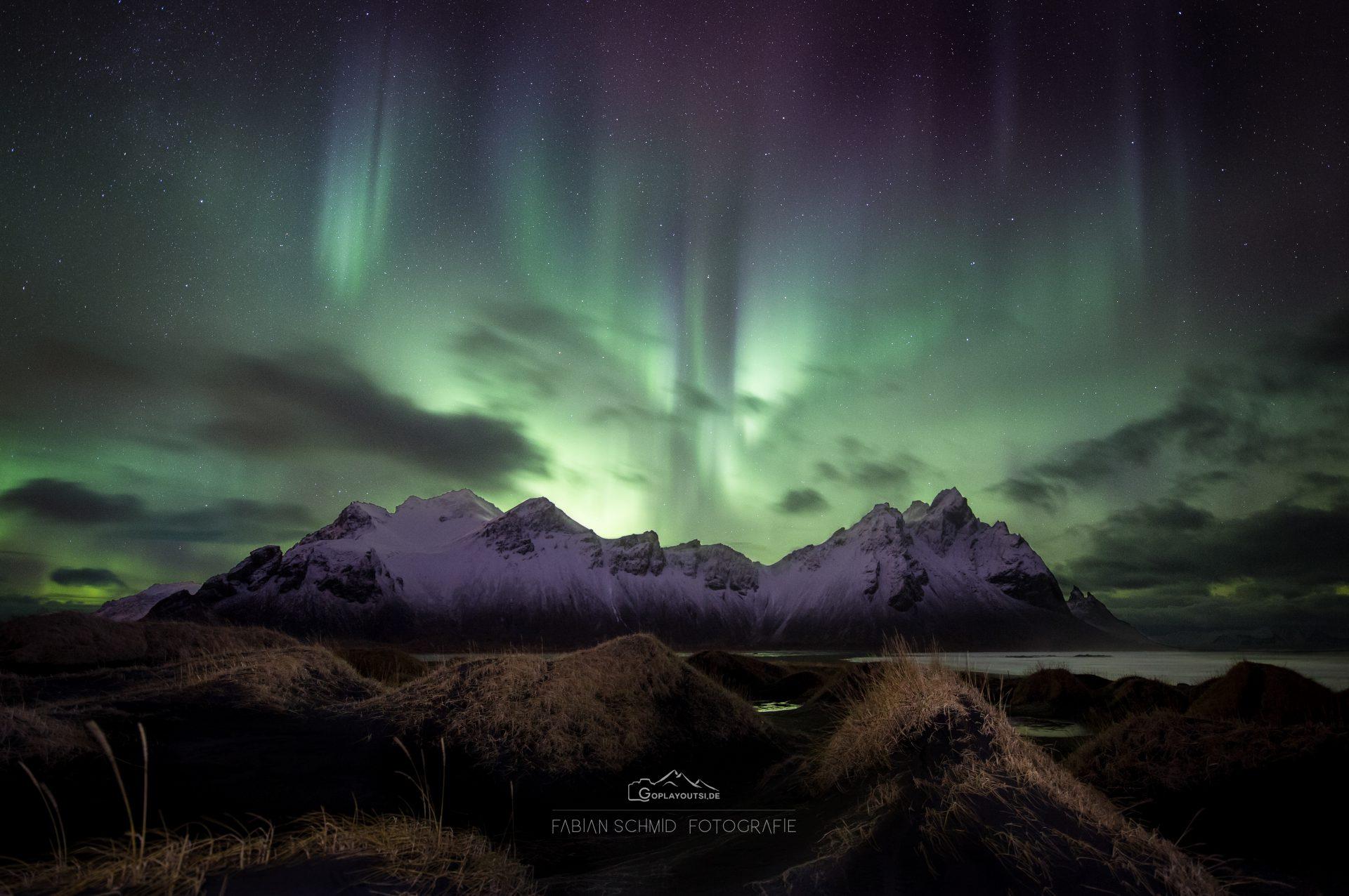 Aurora über Vestrahorn